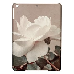 White Rose Vintage Style Photo In Ocher Colors Apple Ipad Air Hardshell Case by dflcprints