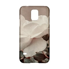 White Rose Vintage Style Photo In Ocher Colors Samsung Galaxy S5 Hardshell Case  by dflcprints