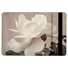 White Rose Vintage Style Photo In Ocher Colors Apple Ipad Air 2 Flip Case by dflcprints
