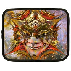 Star Clown Netbook Sleeve (XXL) by icarusismartdesigns