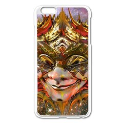 Star Clown Apple Iphone 6 Plus Enamel White Case by icarusismartdesigns