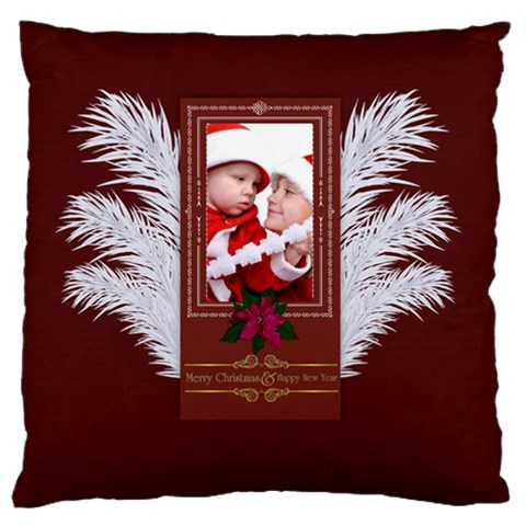Xmas By Debe Lee   Large Flano Cushion Case (one Side)   4hv7bh0u34i6   Www Artscow Com Front