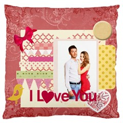 Love By Ki Ki   Large Flano Cushion Case (two Sides)   58oh7ers52nj   Www Artscow Com Back