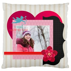 Love By Ki Ki   Large Flano Cushion Case (two Sides)   C45sgzllc5dg   Www Artscow Com Front