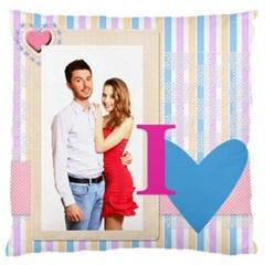 Love By Ki Ki   Large Flano Cushion Case (two Sides)   Ewbiw0t38pv2   Www Artscow Com Front