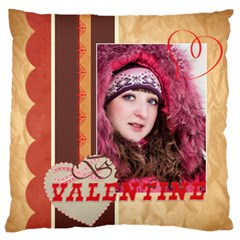 Love By Ki Ki   Large Flano Cushion Case (two Sides)   P5r41ds7dzpo   Www Artscow Com Front
