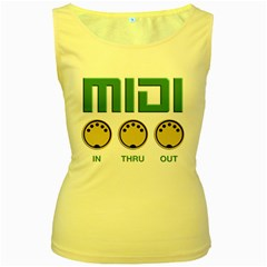 A Wonderful  Midi Vintage Women s Tank Top (yellow) by goodmusic