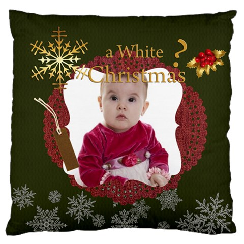 Xmas By Debe Lee   Large Flano Cushion Case (one Side)   E2zi58rjcnc3   Www Artscow Com Front