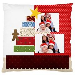 Xmas By Betty   Large Flano Cushion Case (two Sides)   S50cwsezcmor   Www Artscow Com Back