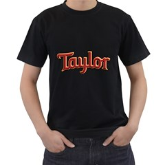 Taylor Guitars Bold  Men s T-shirt (Black) by goodmusic