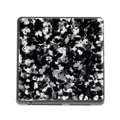Shades Of Gray  And Black Oils #1979 Memory Card Reader With Storage (square) by Khoncepts