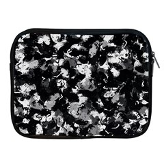 Shades Of Gray  And Black Oils #1979 Apple Ipad Zippered Sleeve by Khoncepts