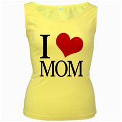 I Heart Mom Women s Tank Top (yellow) by designedwithtlc