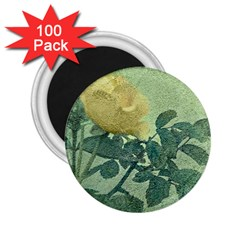 Yellow Rose Vintage Style  2 25  Button Magnet (100 Pack) by dflcprints