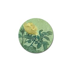 Yellow Rose Vintage Style  Golf Ball Marker 4 Pack by dflcprints
