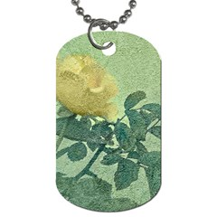 Yellow Rose Vintage Style  Dog Tag (two Sided)  by dflcprints