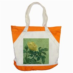 Yellow Rose Vintage Style  Accent Tote Bag by dflcprints