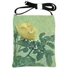 Yellow Rose Vintage Style  Shoulder Sling Bag by dflcprints