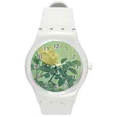 Yellow Rose Vintage Style  Plastic Sport Watch (medium) by dflcprints