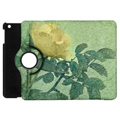 Yellow Rose Vintage Style  Apple Ipad Mini Flip 360 Case by dflcprints