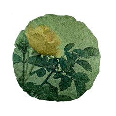 Yellow Rose Vintage Style  15  Premium Flano Round Cushion  by dflcprints