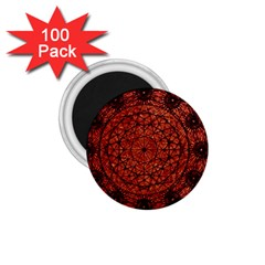 Grunge Style Geometric Mandala 1 75  Button Magnet (100 Pack) by dflcprints