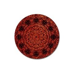Grunge Style Geometric Mandala Magnet 3  (round) by dflcprints