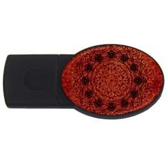 Grunge Style Geometric Mandala 2gb Usb Flash Drive (oval) by dflcprints