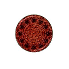 Grunge Style Geometric Mandala Golf Ball Marker (for Hat Clip) by dflcprints
