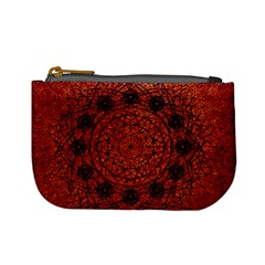 Grunge Style Geometric Mandala Coin Change Purse by dflcprints