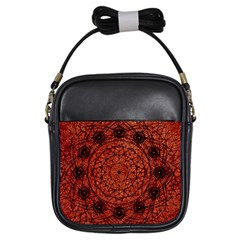 Grunge Style Geometric Mandala Girl s Sling Bag by dflcprints