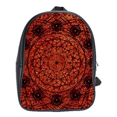 Grunge Style Geometric Mandala School Bag (xl) by dflcprints