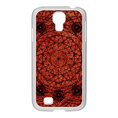 Grunge Style Geometric Mandala Samsung Galaxy S4 I9500/ I9505 Case (white) by dflcprints