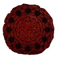 Grunge Style Geometric Mandala 18  Premium Flano Round Cushion  by dflcprints