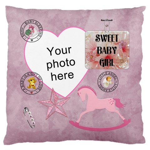Baby Girl Flano Cushion Case (1 Sided) By Lil    Standard Flano Cushion Case (one Side)   55l5slji6sme   Www Artscow Com Front