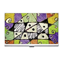 Multicolored Tribal Print Abstract Art Business Card Holder by dflcprints