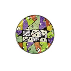 Multicolored Tribal Print Abstract Art Golf Ball Marker 4 Pack (for Hat Clip) by dflcprints