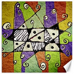 Multicolored Tribal Print Abstract Art Canvas 16  X 16  (unframed) by dflcprints