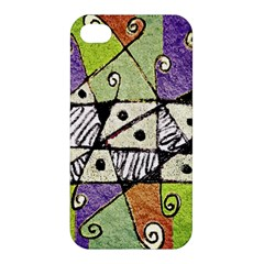 Multicolored Tribal Print Abstract Art Apple Iphone 4/4s Premium Hardshell Case by dflcprints