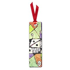 Multicolored Tribal Print Abstract Art Small Bookmark by dflcprints
