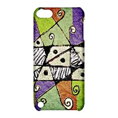 Multicolored Tribal Print Abstract Art Apple iPod Touch 5 Hardshell Case with Stand by dflcprints