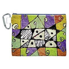Multicolored Tribal Print Abstract Art Canvas Cosmetic Bag (xxl) by dflcprints