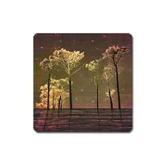 Fantasy Landscape Magnet (square) by dflcprints
