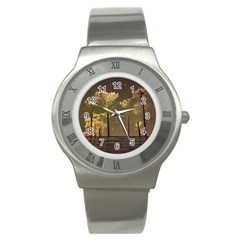Fantasy Landscape Stainless Steel Watch (slim) by dflcprints