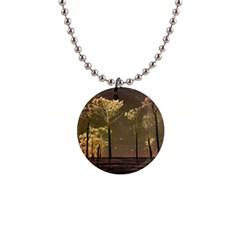 Fantasy Landscape Button Necklace by dflcprints