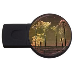 Fantasy Landscape 4gb Usb Flash Drive (round) by dflcprints