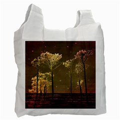 Fantasy Landscape White Reusable Bag (one Side) by dflcprints