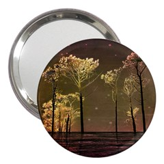 Fantasy Landscape 3  Handbag Mirror by dflcprints