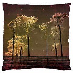 Fantasy Landscape Large Flano Cushion Case (one Side) by dflcprints