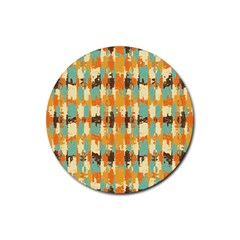 Shredded Abstract Background Rubber Coaster (round) by LalyLauraFLM